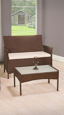 Garden Rattan Set Patio Wicker Furniture 4 Seater & Table Outdoor Indoor 4pcs image 4