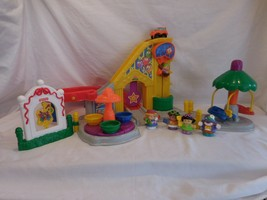 Little People Surprise Sounds Fun Park + Airplane + People + Pony Turn a... - $26.02