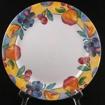 4 CORELLE FRUIT BASKET Dinner Plates APPLE CHERRY Grapes - $41.22