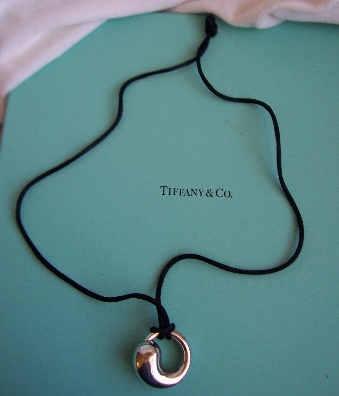 Tiffany co elsa peretti large sterling and 25 similar items 57 57 tiffany co elsa peretti large sterling silver eternal circle pendant aloadofball Images