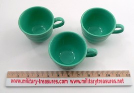 3 Clean EUC Homer Laughlin Fiesta Dinnerware Fiestaware Light Green Coffee Cups image 4