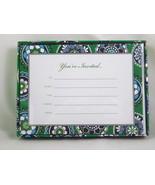 Vera Bradley Cupcakes Green Invitations Stickers Envelopes Cards Unused Retired  - $10.75