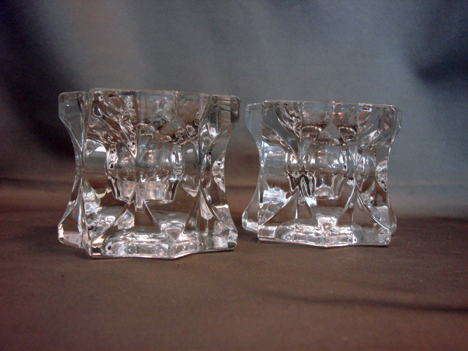 Primary image for Pair of Mikasa Crystal Starburst Candle Holders~Votive or Taper~Star Shaped