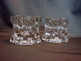 Pair of Mikasa Crystal Starburst Candle Holders~Votive or Taper~Star Shaped - $8.99