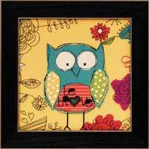 Be Brave Wise Old Owls 2014 Amylee Weeks beaded button kit Mill Hill - $15.30