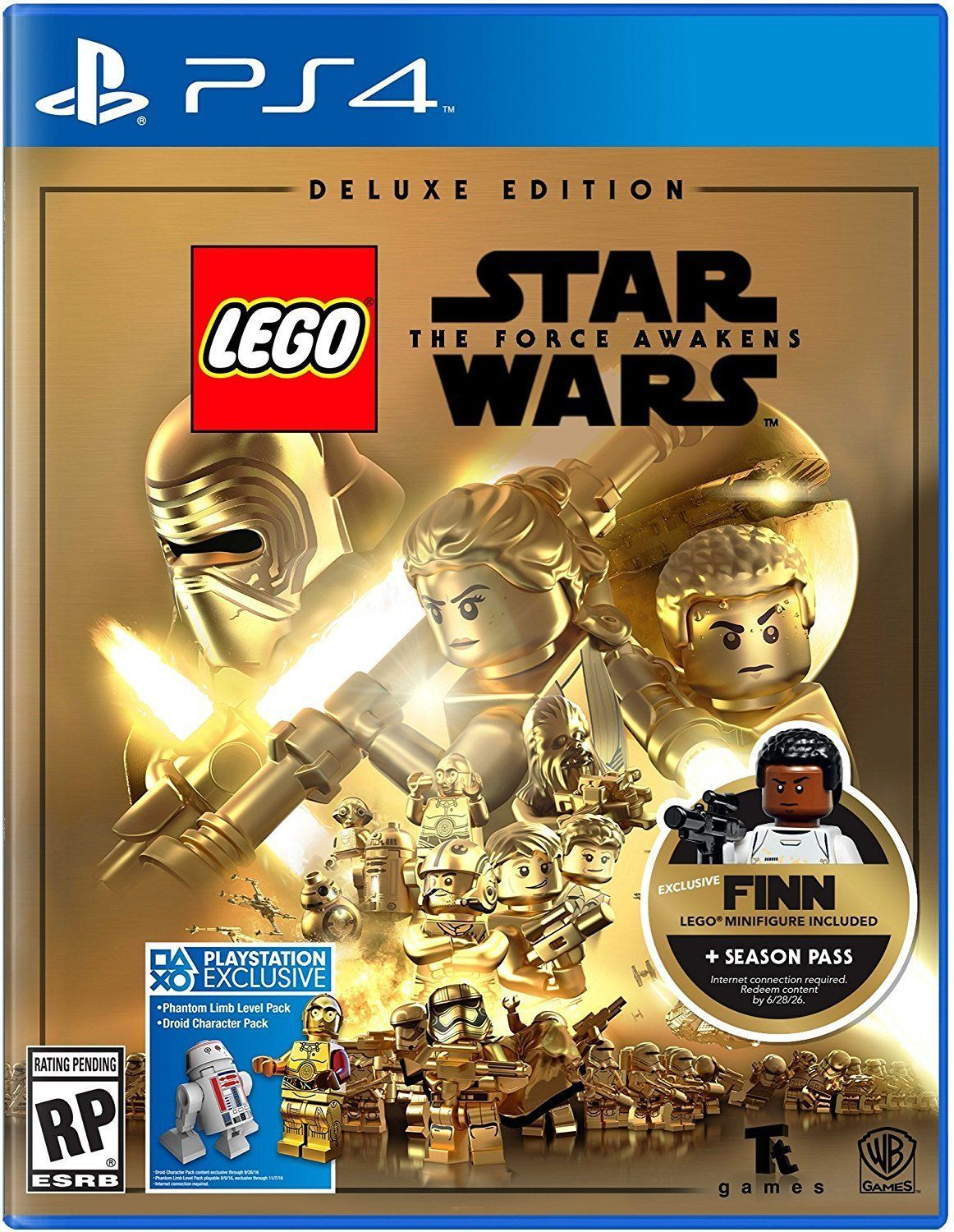 Primary image for NEW Lego Star Wars The Force Awakens Deluxe Edition PS4 Game Finn PlayStation 4