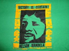 Vintage Nelson Mandela Victory is Certain 80's tour Rap Hip Hop T Shirt Men's L - $54.33