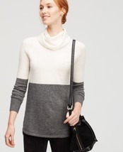 Ann Taylor colorblock cowl-neck cashmere sweater, size XL, NWT - ₨11,886.73 INR