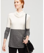 Ann Taylor colorblock cowl-neck cashmere sweater, size XL, NWT - ₨11,810.86 INR