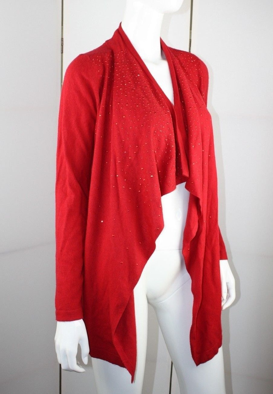 Red Sparkle Cardigan Sweater - English Sweater Vest