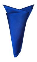 Mouchoir de pochette pour homme satin carré bleu roi - $8.43