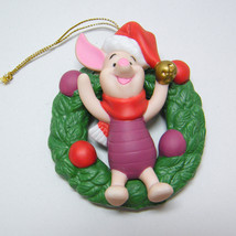 Disney PIGLET Winnie Pooh Ornament Porcelain Treasures Grolier Collectibles - $13.00