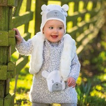 Mayoral Baby Girl 3M-24M Leopard Print Fuzzy Knit Sweater Dress