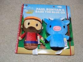 Hallmark Itty Bittys Paul Bunyan and Babe the Big Blue Ox Story Book Set... - $17.81