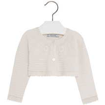 Mayoral Baby Girl 3M-24M Fancy Knit Angora Blend Bolero Cardigan Sweater Shrug