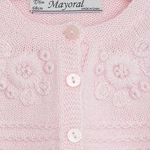 Mayoral Baby Girl 3M-24M Fancy Knit Angora Blend Bolero Cardigan Sweater Shrug image 3