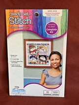 "JANLYNN Ready Set Stitch Counted Cross Stitch Kit ""Happy Everything"" #999-2018 - $8.95"