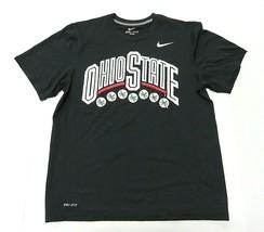 NIKE dri-fit NCAA Ohio State University Buckeyes Black T-shirt Men's Siz... - $32.62