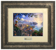 Thomas Kinkade Disney Pinocchio Wishes Upon a S... - $199.00