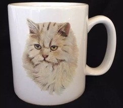 Persian Cat Mug 16 Oz Large Pet Characteristic History Information Bow W... - $24.99