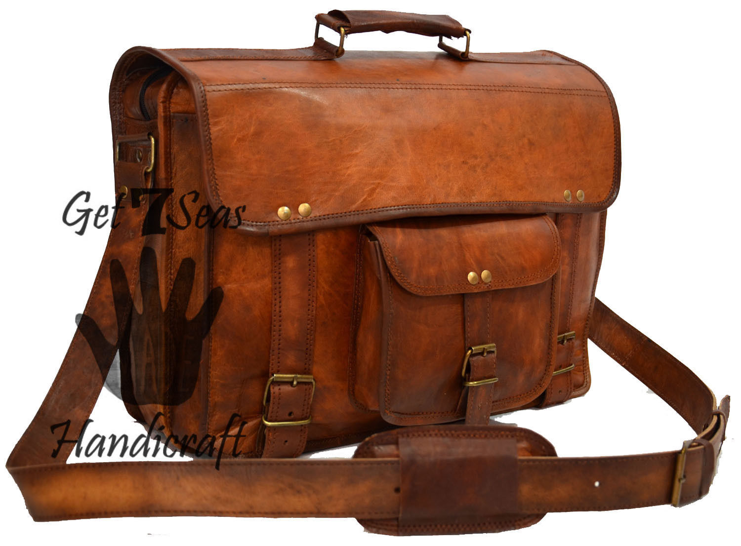 Leather Padded Briefcase Laptop Macbook Attache Satchel Aircabin Bag big sale
