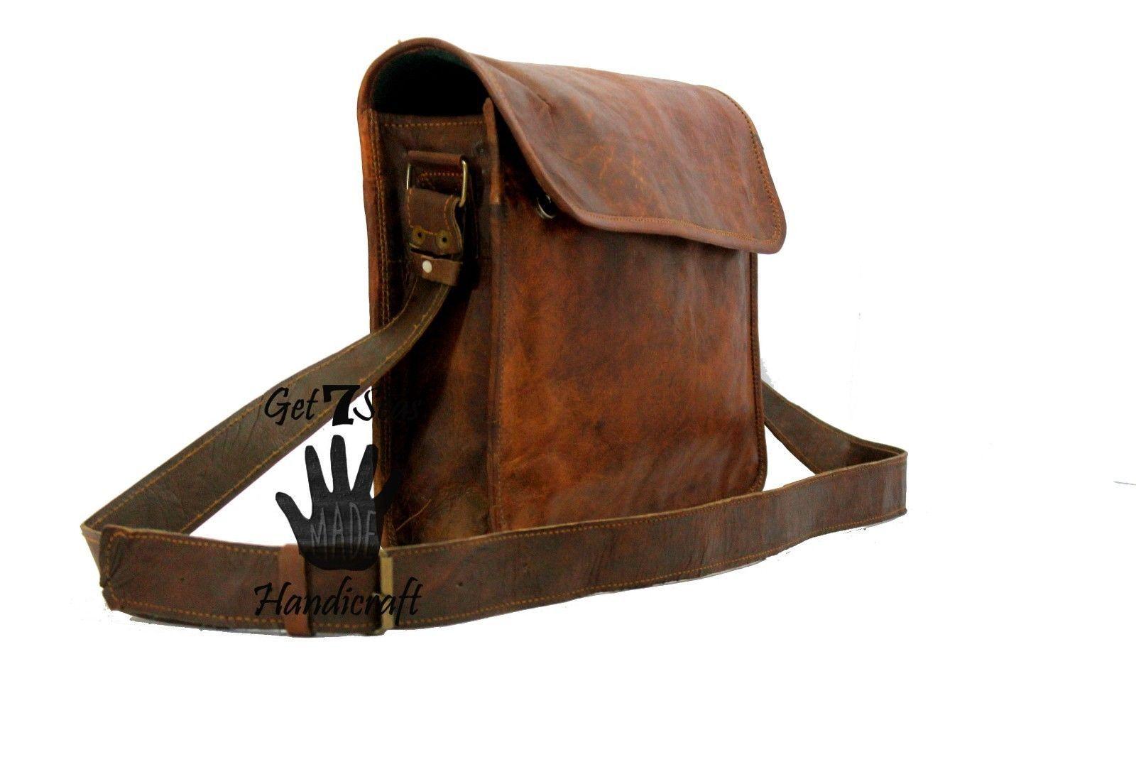Leather satchel men's shoulder laptop women messenger cmputer men Genuine bags image 3