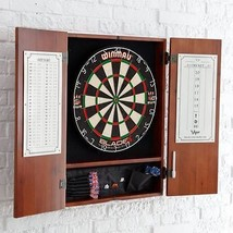 Luxury Wood DartBoard Cabinet Set Special Gift ... - $171.58