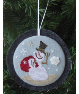 A Gift For You Holiday Hang Ups snowman cross stitch kit Bent Creek  - $21.60