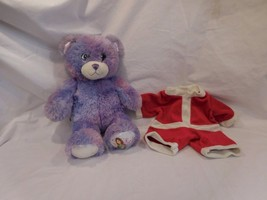 """Build a Bear Wizards of Waverly Place Purple Teddy W/ Santa Outfit 14"""" P... - $18.41"""