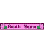 Custom Design Booth Banner Pink Shamrocks St Patrick's Day Holiday Irish... - $10.00