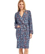 Gap Womens Piping print robe, PARIS PAISLEY BLUE, Limited, size XS/S, NWT - $53.96