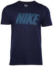 NIKE Loose Fit Screen Block Hyper-Cell Print T-Shirt Sz-XLg, Lg - Navy, Black - $19.99