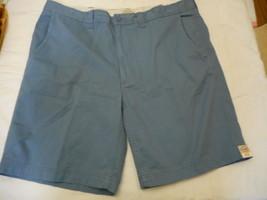 Men's St. John's Bay Legacy Flat Front Shorts Nottingham Blue  Size 42 NEW  - $22.76