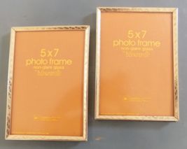 2 - 5X7 Photo Frames - Non-Glare Glass - by Intercraft - $13.75