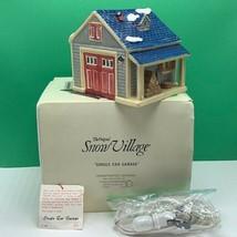 Department 56 Snow village Christmas figurine box 5125-0 Single car gara... - $33.69
