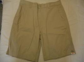 Men's St. John's Bay Legacy Flat Front Shorts Classic Stone  Size 40 NEW  - $24.74