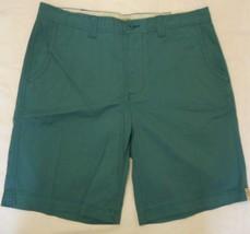 Men's St. John's Bay Legacy Flat Front Shorts Teal Edge  Size 38 NEW  - $24.74