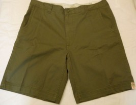 Men's St. John's Bay Legacy Flat Front Shorts Green Mountain  Size 40 NEW  - $24.74