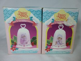 PRECIOUS MOMENTS Lot of 2 HOME FOR THE HOLIDAYS Bells - $8.90