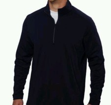 Kirkland Signature Men's Cotton 1/4 Zip Pullover Sweater Black  Sz-M - $18.22