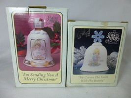 PRECIOUS MOMENTS Lot of 2 Bells 1995 1998 Christmas - $11.87