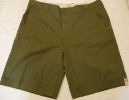 Men's St. John's Bay Legacy Flat Front Shorts Green Mountain  Size 44 NEW  - $21.77