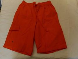 Men's St. John's Bay Swim Trunk Shorts Bright Orange  Size Small  NEW  - $24.74