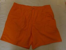 Men's St. John's Bay Swim Trunk Shorts Bright Marigold  Size X-Large NEW  - $21.77