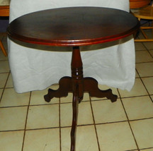 Walnut Oval One Board Parlor Table / Center Table - $699.00