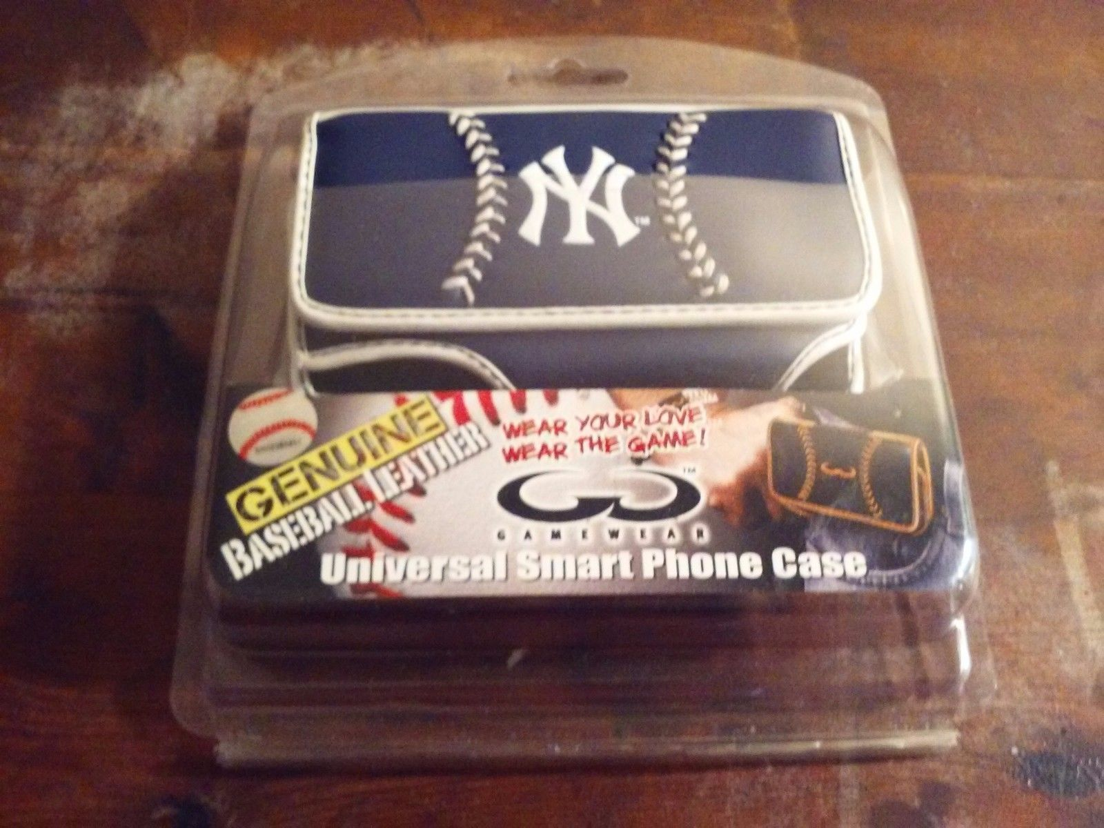 Officially Licensed NY Yankees Leather Universal Smart Phone Case New