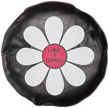 """Life is Good Tire Cover Simple Daisy, Night Black, 32"""""""