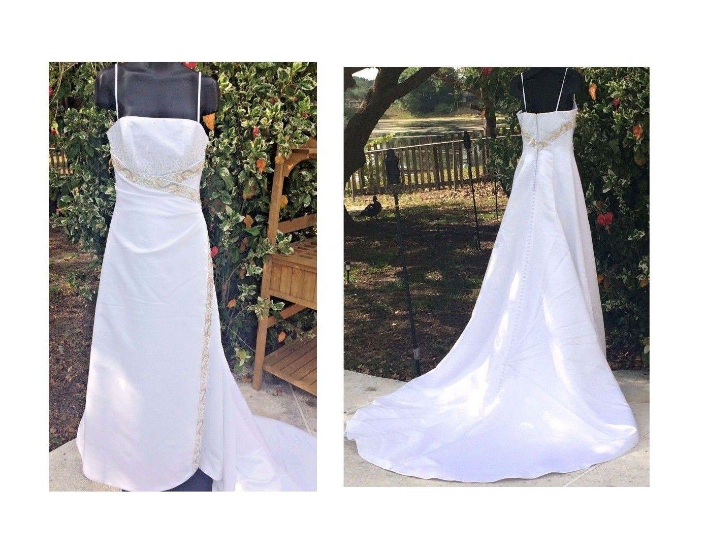 c3a26ae3fe5 Anjolique Wedding Dress White Sleeveless and 50 similar items