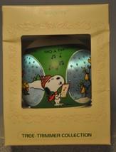 Hallmark - Peanuts - Tree-Trimmer Collection - Satin Globe - 1980 Ornament - $12.51