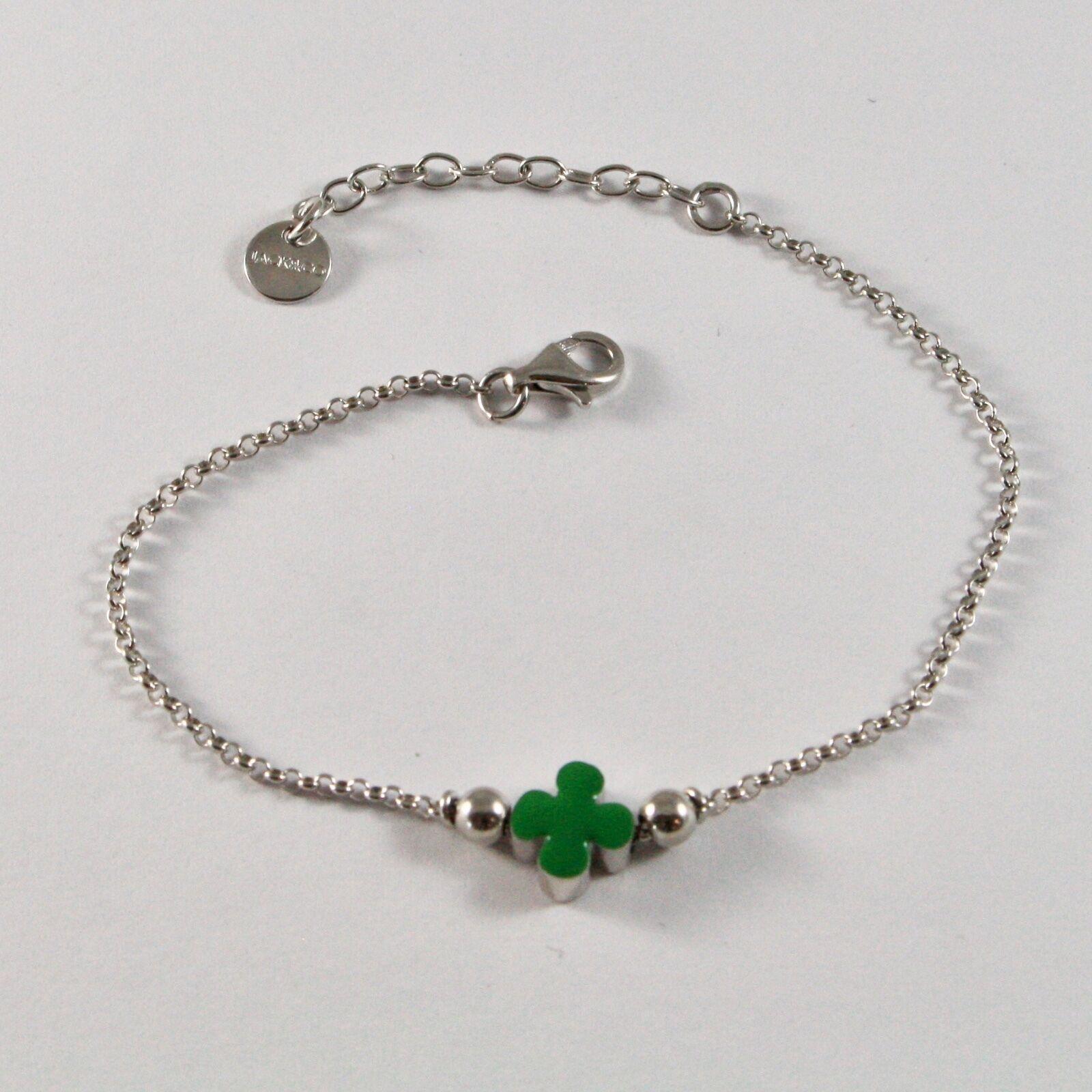 Bracelet en Argent 925 Jack&co Trèfle Porte- Fortuna Émaillé JCB0904